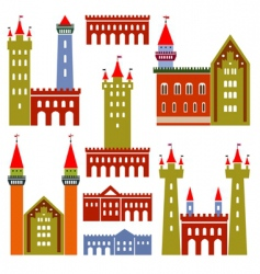 Architecture of castles vector