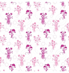 Pink flower bouquets seamless pattern background vector