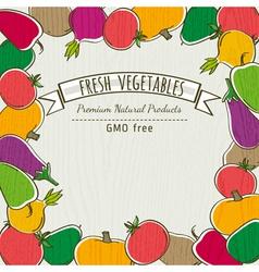 Frame of organic vegetable vector