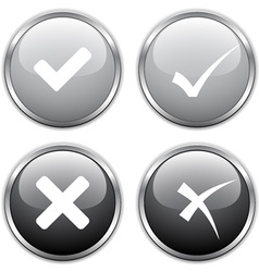 Check mark buttons vector