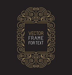 Geometric frame with copy space vector