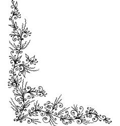 Floral vignette ccclxxxiv vector