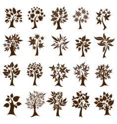 Decorative trees vector