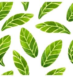 Watercolor leaves pattern vector