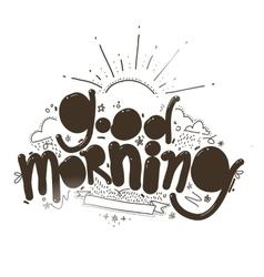 Good morning inscription vector