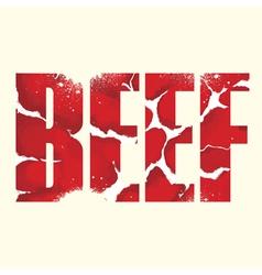 Beef sign vector
