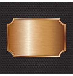 Bronze texture plate vector