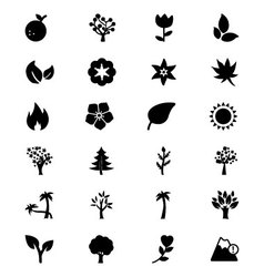 Nature icons 3 vector
