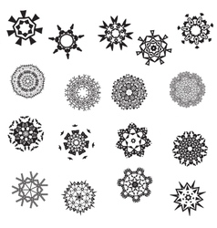 Collection of seventeen graphic patterned vector