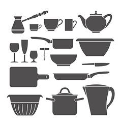 Kitchen set icons vector