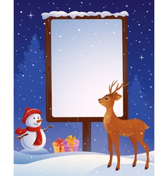Christmas placard vertical vector