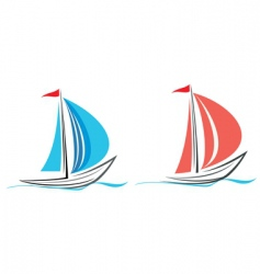 Yacht sailboat vector