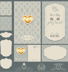 Wedding invitation 2 380 vector
