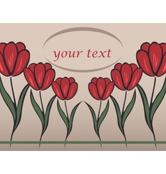 Background with tulip vector
