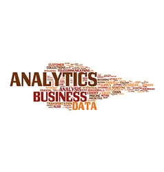 Business analysis wordcloud vector
