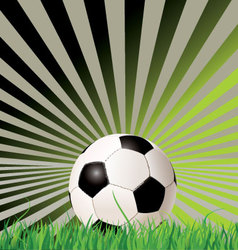 Soccer ball retro background vector