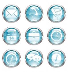 Set business gloss button vector