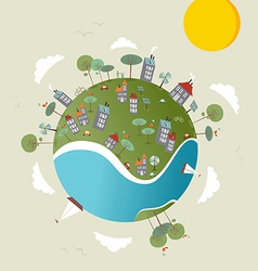 Go green world design vector