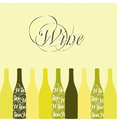 Wine or vinegar bottles vector