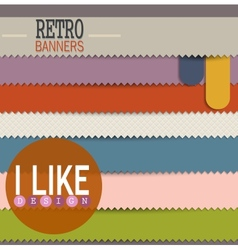 Set of colorful retro banners vector