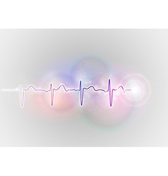 Medical symbol ekg blue vector