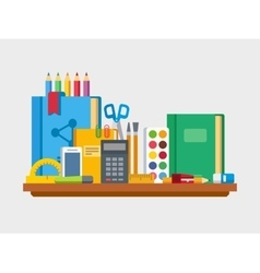 School education items on table vector