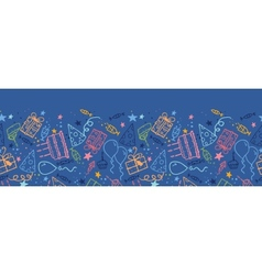 Birthday horizontal seamless pattern background vector