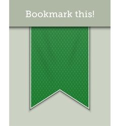 Green bookmark decoration ribbon vector