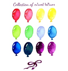 Collection of colored balloons painted live vector