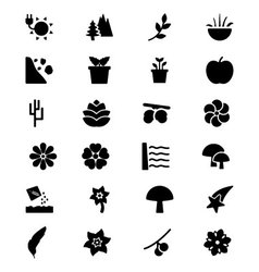 Nature icons 6 vector