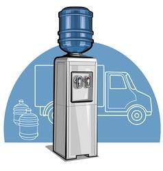 Electric water cooler vector