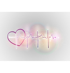 Medical symbol ekg sweet heart vector