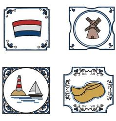 Dutch culture vector