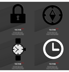 Set of fashionable icons trending symbols flat vector