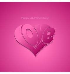 Valentines card with lettering vector