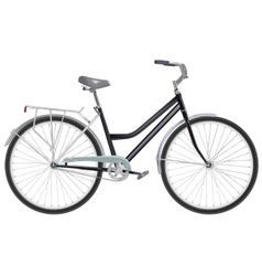 Two-wheeled single-speed bicycle vector