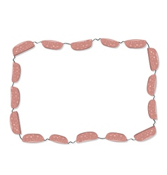 Sausages frame vector