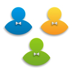 Colorful user icons persons symbol vector