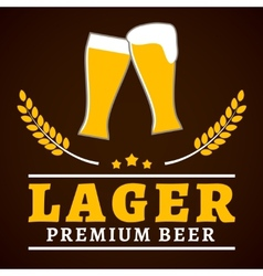 Lager beer poster vector