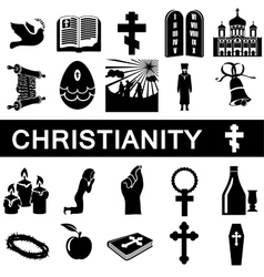Icons for christianity vector