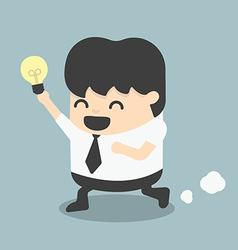 Young business run show idea vector