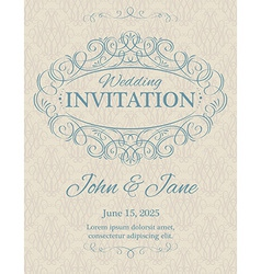 Invitation with calligraphy design elements in vector