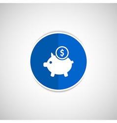 Piggy icon bank economy coin money piggy savings vector