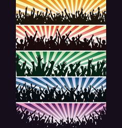 Concert crowds vector