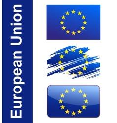 Flag european union vector