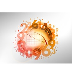 Numbers red with graph vector