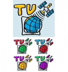 Satellite tv vector