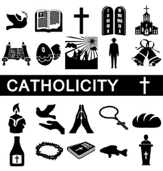 Icons for catholicity vector
