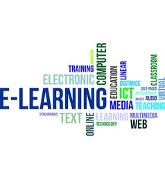 Word cloud elearning vector