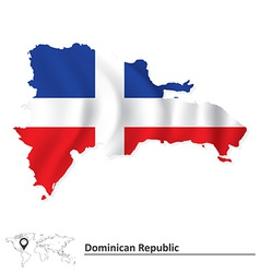 Map of dominican republic vector